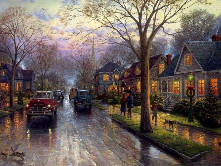 Beautiful 1940's painting ~`