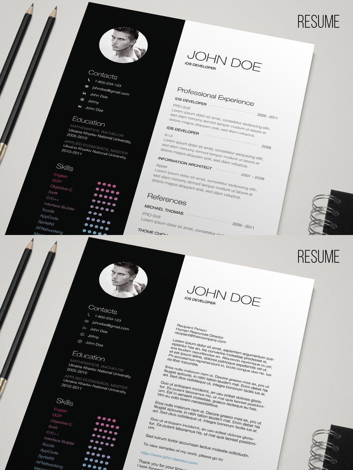 Bw resume by yuriy_kondratkov on envato elements print