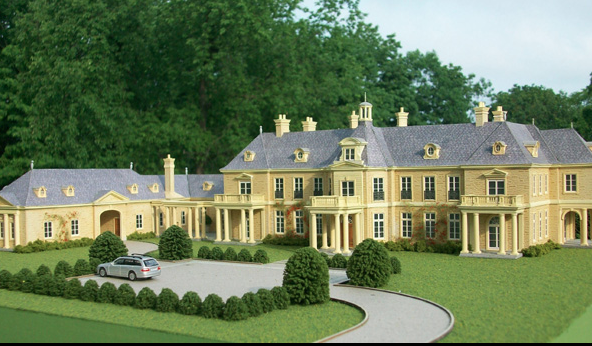 Architectural Model For Classic Mansion   Wadia Associates