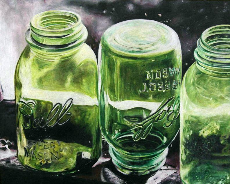 colored pencil art stilllife | mason jars - colored pencil