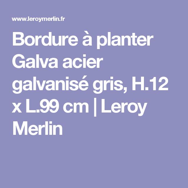 Bordure à Planter Galva Acier Galvanisé Gris H12 X L99 Cm