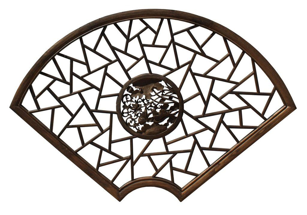 Chinese Fan Shape Lotus Flower Birds Theme Wood Wall Hanging Panel Cs4049s Antique Chinese Furniture Antiques Panel Wood Wall Hanging