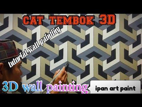 Cat tembok 3D- 3D wall painting- tutorial cat tembok 3D ...