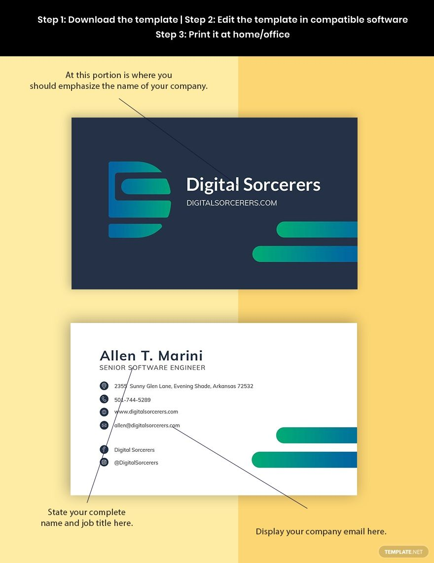 Software Company Engineer Business Card Template Word Doc Psd Apple Mac Pages Google Docs Illustrator Business Card Template Word Company Business Cards Business Card Template