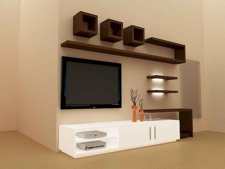 59 Best Tv Wall Living Room Ideas Decor On A Budget Page 5 Of 60 Modern Tv Wall Units Tv Unit Furniture Wall Unit Designs