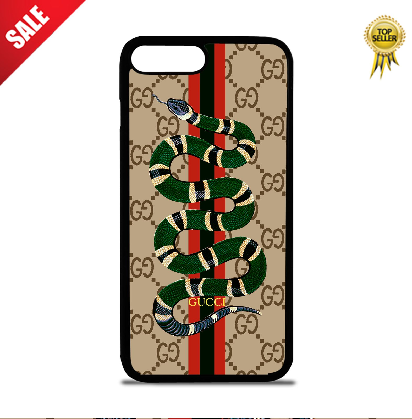 4975921bf87d Green Snake Gucci Brown Line Case For iPhone 5 5s 6 6Plus 7 7Plus 8 Cover +
