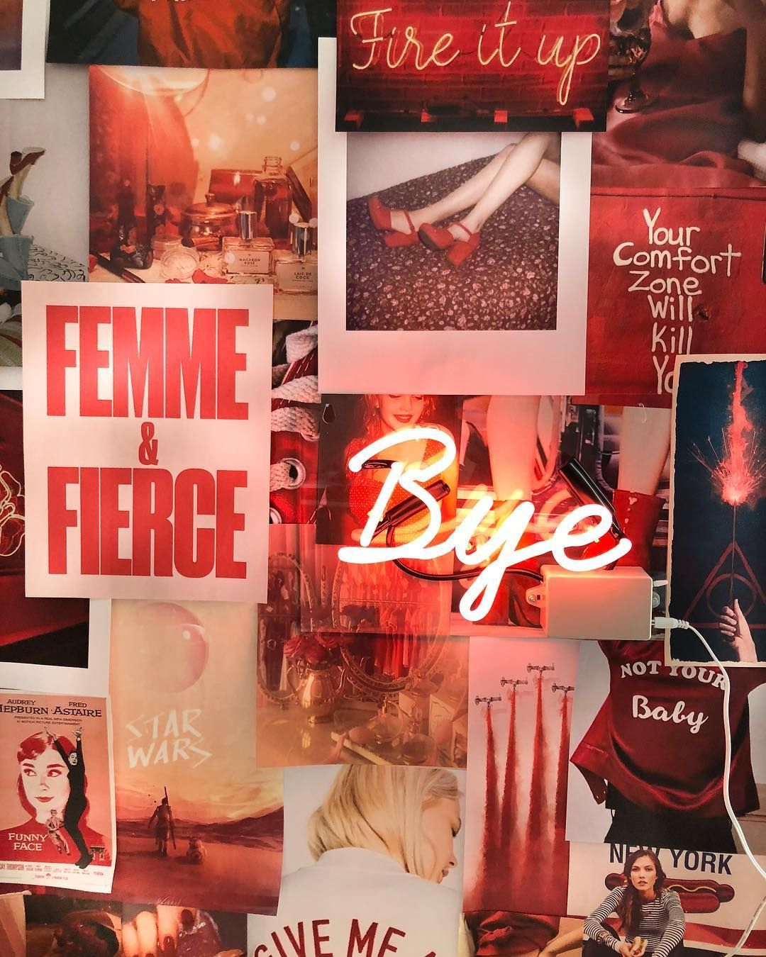 red vibe Aesthetic collage, Aesthetic wallpapers, Wall
