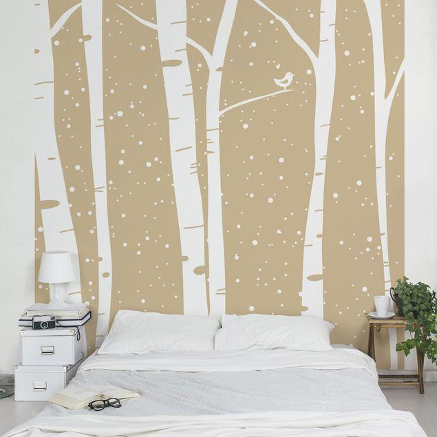 Kinderzimmer Wald Fototapete Schneekonzert zwischen