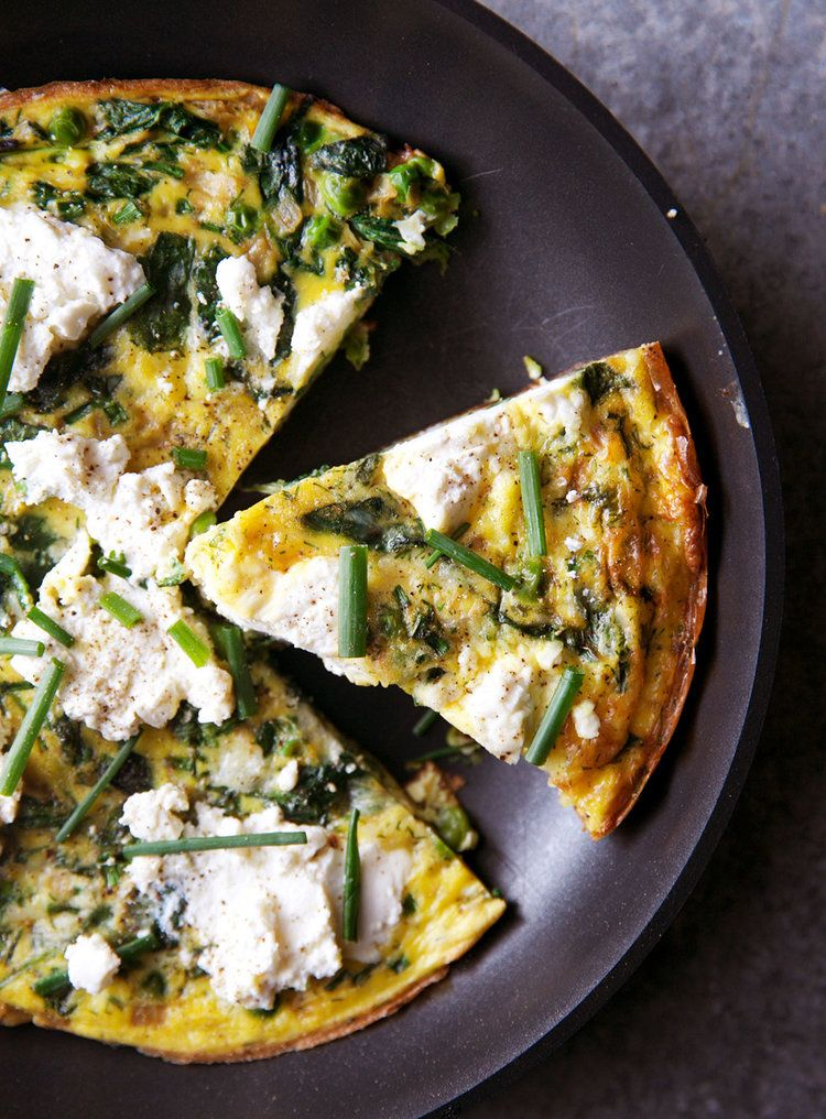 Make-Ahead Frittata With Greens and Ricotta