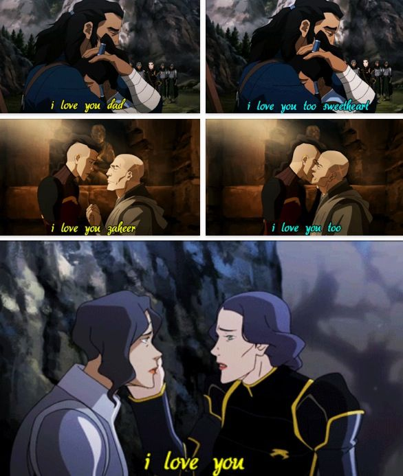 Legend of Korra: a lot of love in this episode