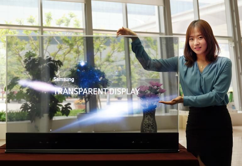 Samsung Shows Off 55 Inch Transpa And Mirror Oled Displays Television