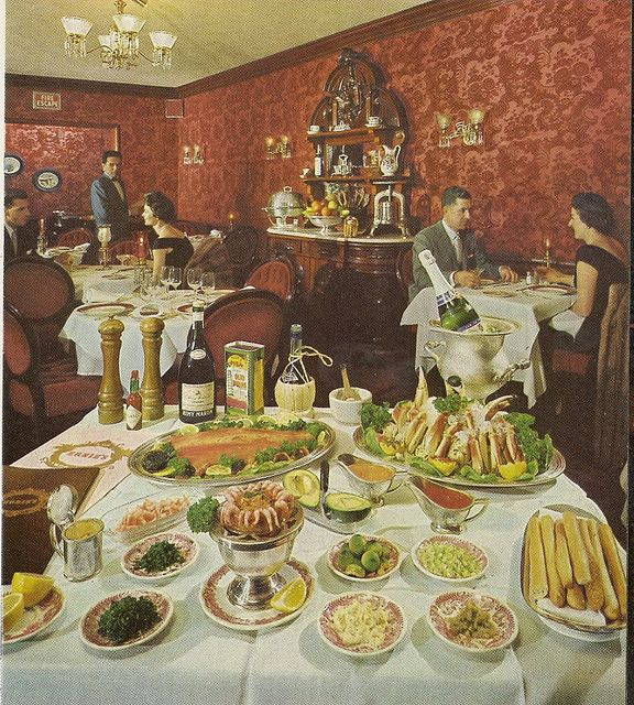 Buffet Cuisine 1950: What Swankiness Was All About... In 2019