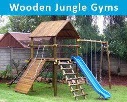 wooden-jungle-gyms | Outdoor jungle gym, Jungle gym diy ...