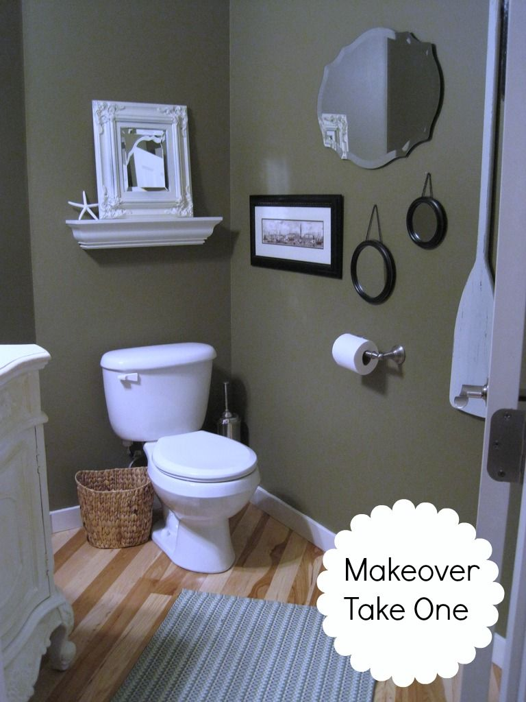 Powder Room Take Two 2nd Budget Makeover Reveal Green