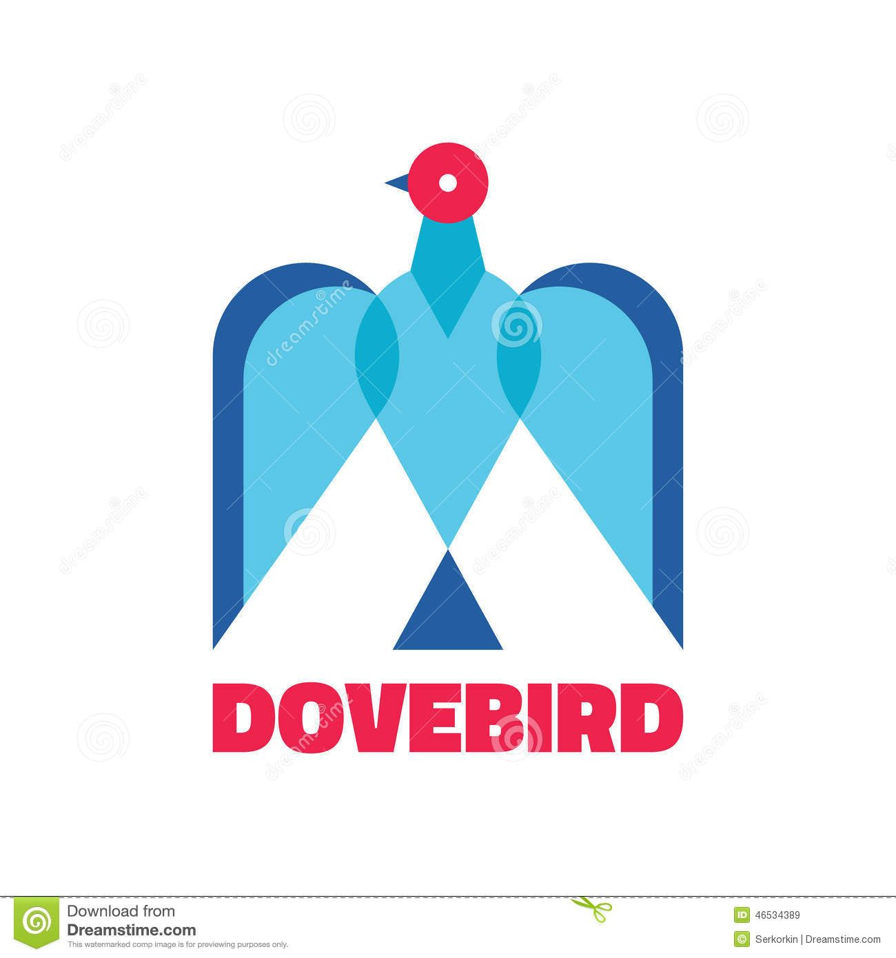 Bird Pigeon Concept Logo Stock Vector - Image: 55055217