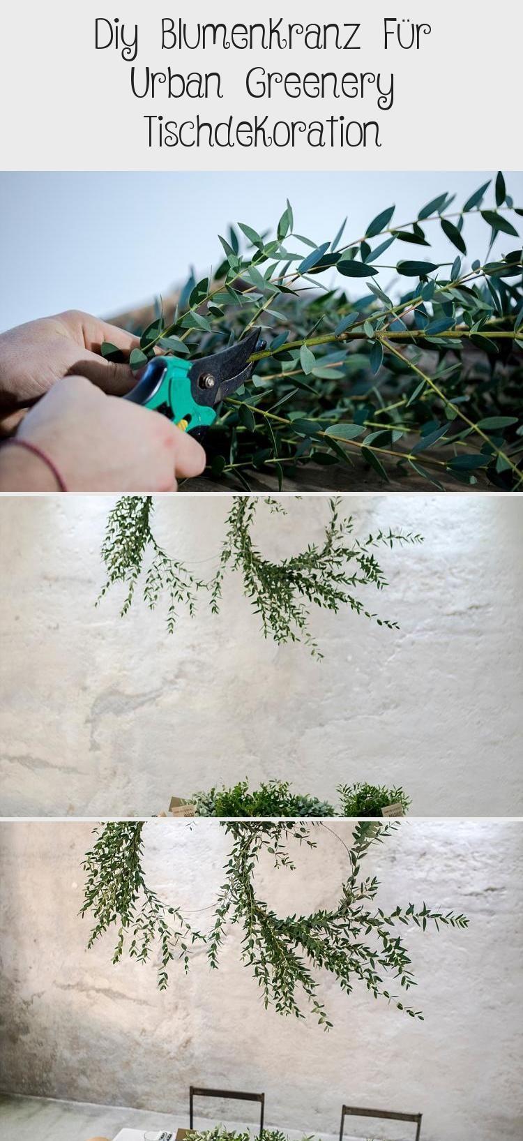 Photo of DIY Blumenkranz für Urban Greenery Tischdekoration | Hochzeitsblog The Little W…