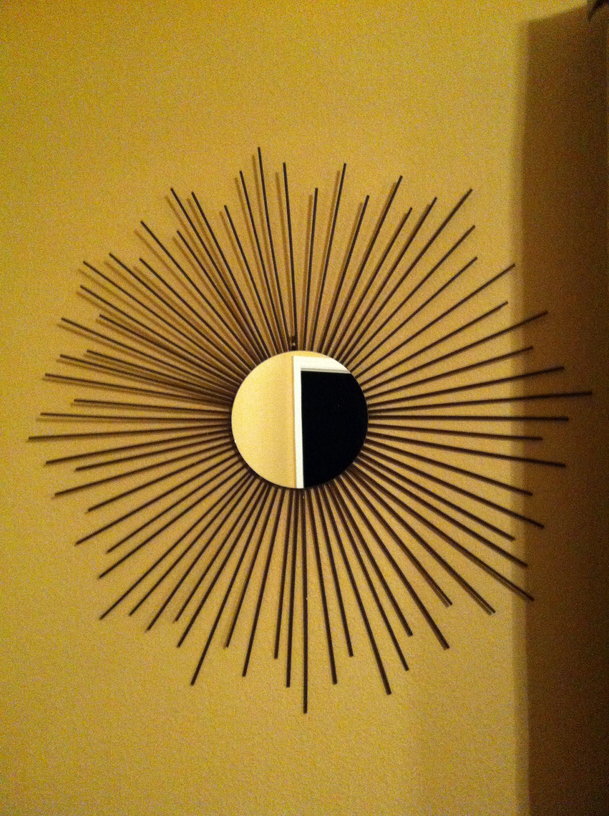 DIY Sun Mirror ( All you need is a Round mirror, Bamboo Skewers ...