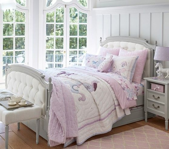 Aria Blue Lavender Quilted Bedding Pottery Barn Kids