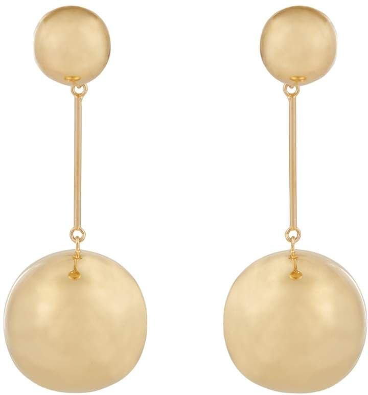 J.W.Anderson Double-sphere gold-plated drop earrings kjh5Q4x