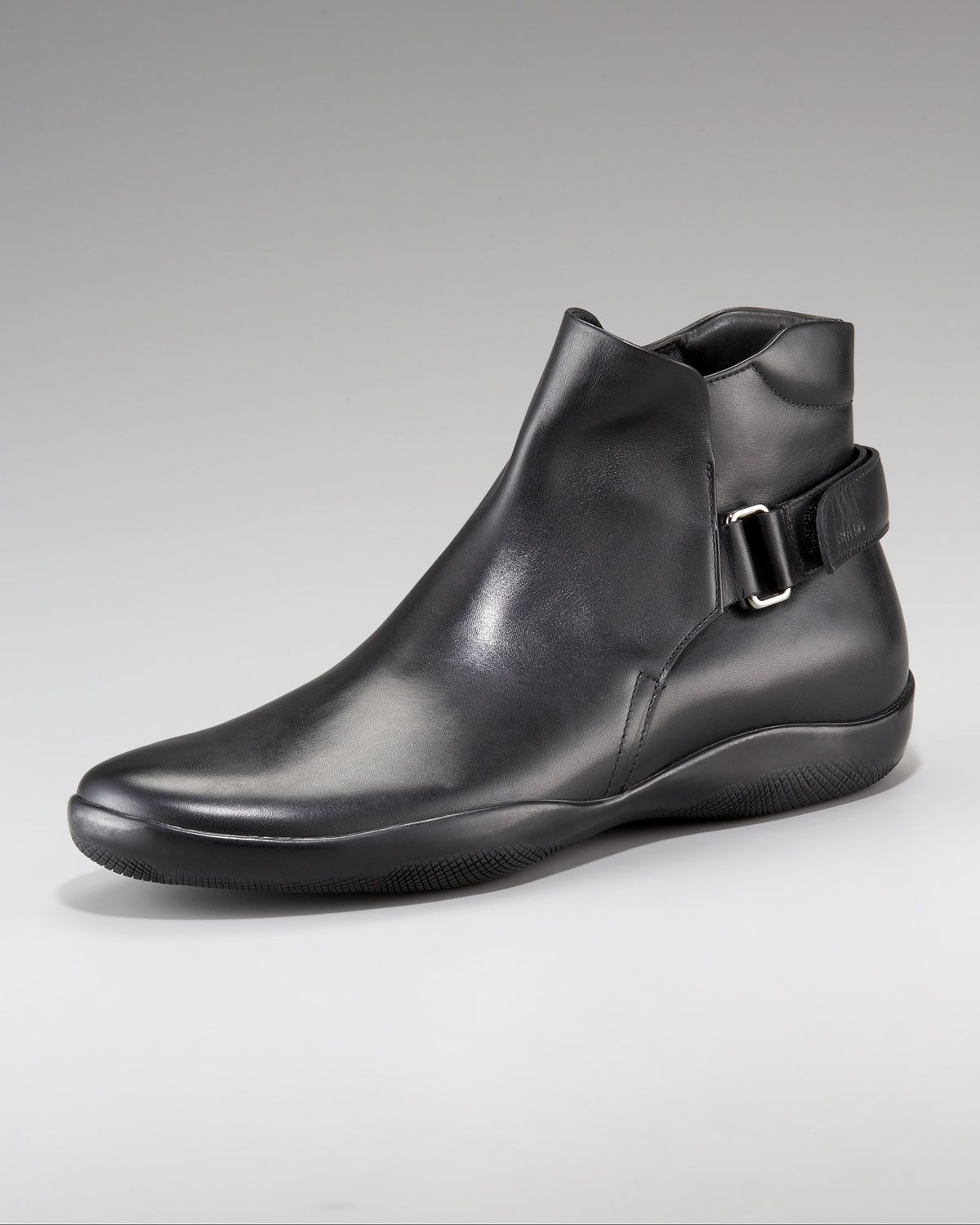 Prada Pull-On Boot with Strap.  3a94252f4dca