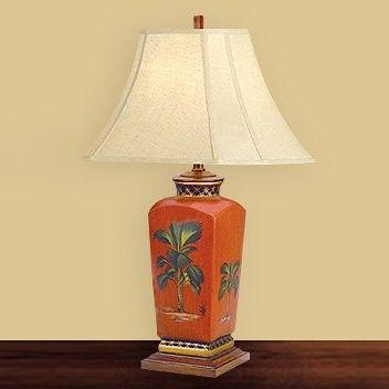 Jb Hirsch J15336 Tropical Porcelain Table Lamp Lamp Tropical