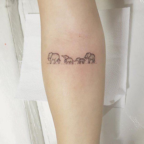 tiny and small tattoo design model for 2017 image description rh pinterest co uk little elephant tattoo on ankle little elephant tattoo on foot