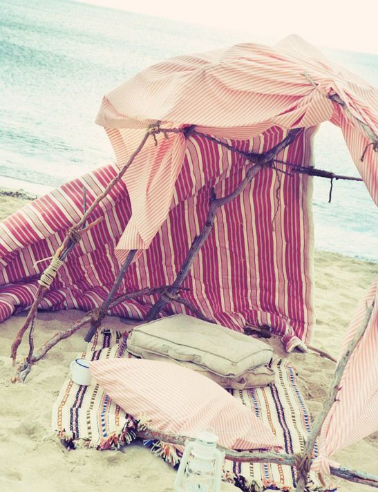 Acampar En La Playa Acampar En La Playa Vida Al Aire Libre Y