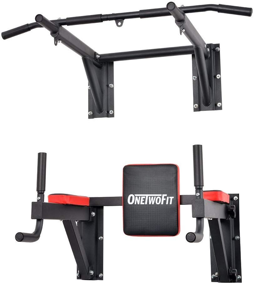 Wall Mounted Pull Up Chin Up Bar Crossfit Training Fitness Gym Garage Home