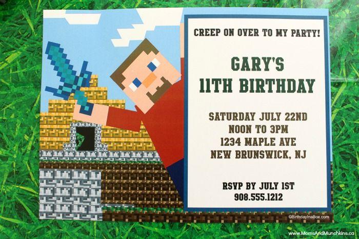 Minecraft Party Ideas Birthday Ideas Pinterest Minecraft Party