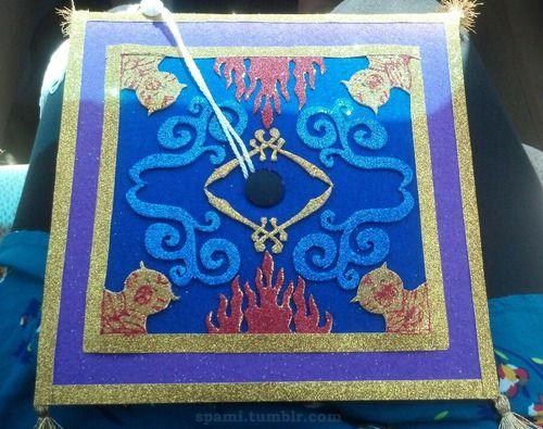 Aladdin S Magic Carpet Cap Decorations Disney Graduation Graduation Cap Decoration