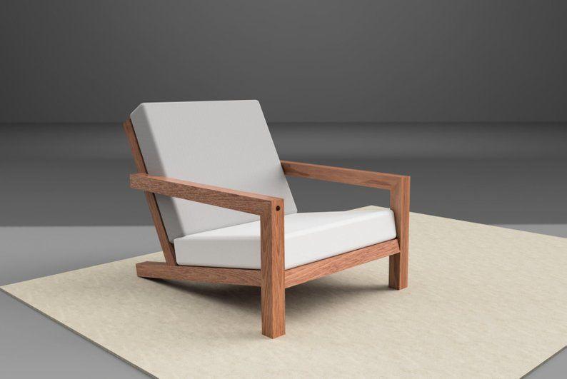 Diy File For Modern Garden Lounge Chair Stool Building Plan