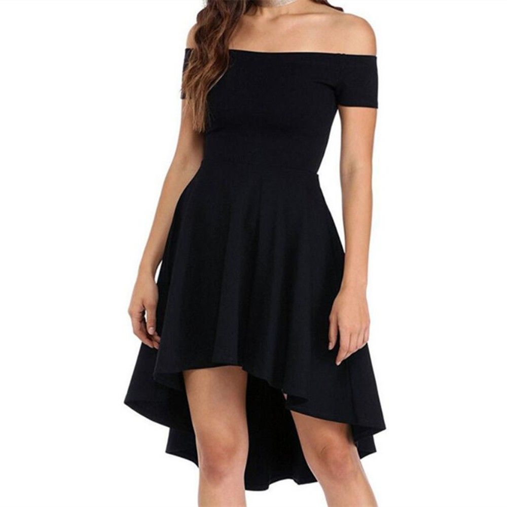Front Short Back Long Short Sleeve Dress Black 4b85194112 Size S Long Sleeve Short Dress Short Dresses Short Mini Dress [ 1000 x 1000 Pixel ]