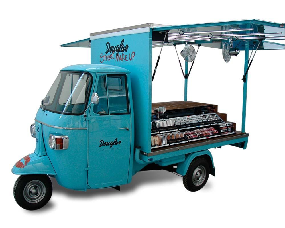 promotional vehicles piaggio ape car douglas mobile. Black Bedroom Furniture Sets. Home Design Ideas