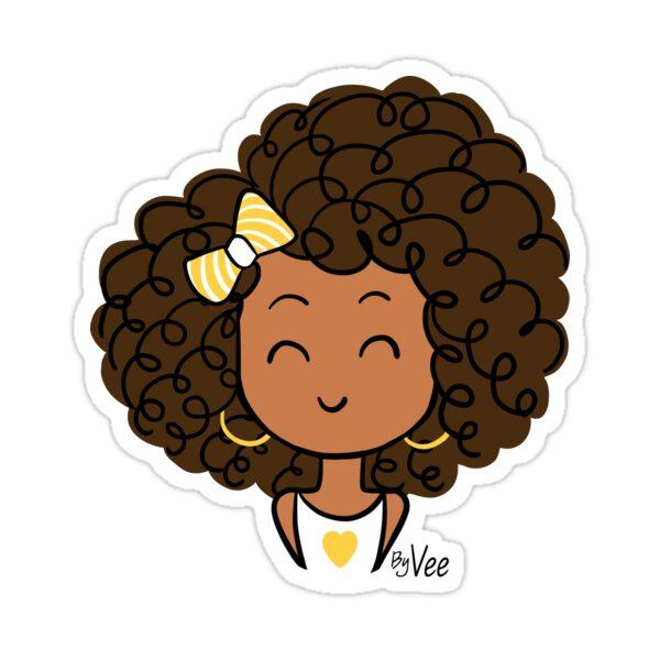 Little Curly Girl Sticker By Vee Madinina En 2021 Dessin Marguerite Dessins Mignons Gribouillages Artistiques