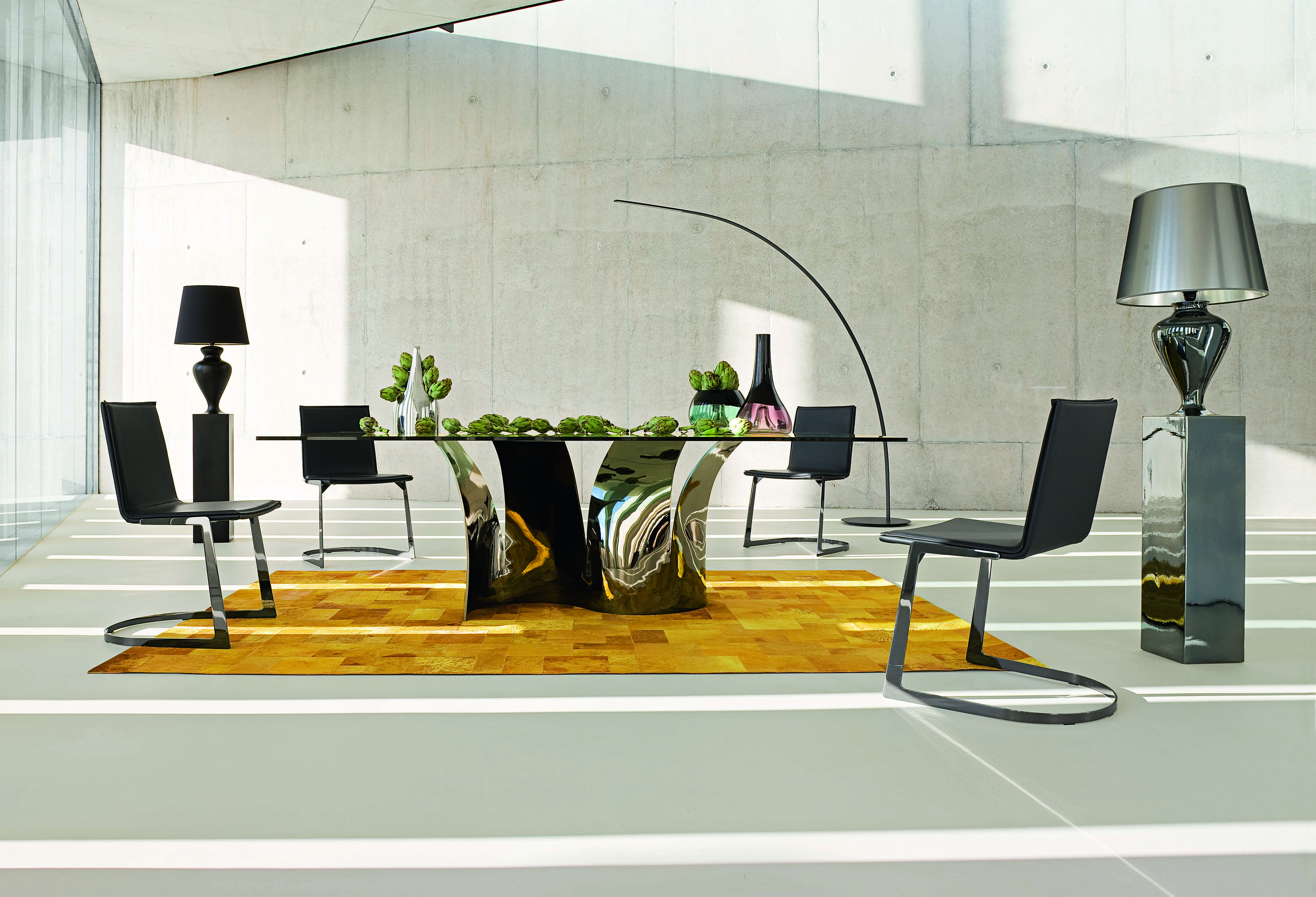 Roche Bobois VOILES dining table design Maurice Barilone