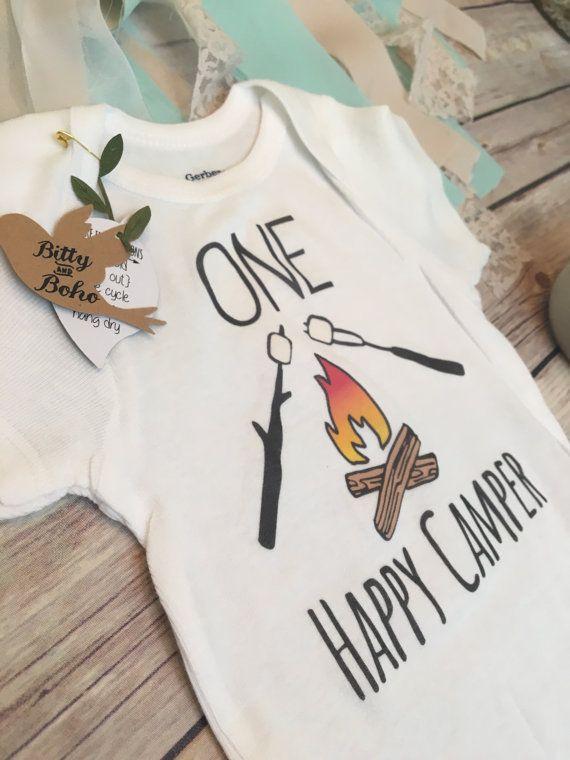 b22b9f520 One Happy Camper Onesie® First Birthday Outfit by BittyandBoho ...
