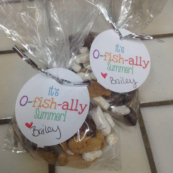 DIY Printable It's O-Fish-ally Summer Tags