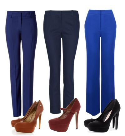 Combinaciones Pantalones Azules Fashion Stylish Pants Outfits