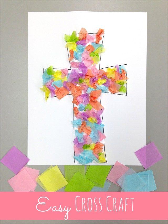 Easy Cross Craft Jesus Crucifixion Resurrection Matthew 26 36