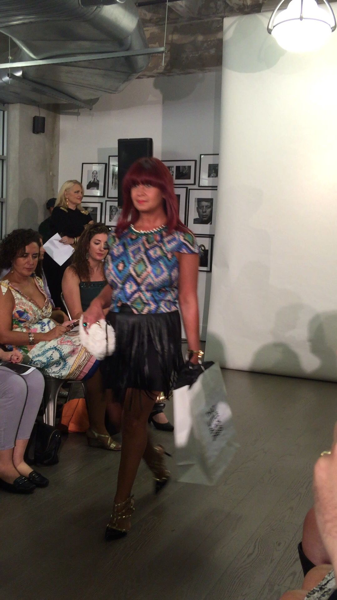 e1b364e86 My debut on the #runway. Thrilled to be wearing my evening outfit ...