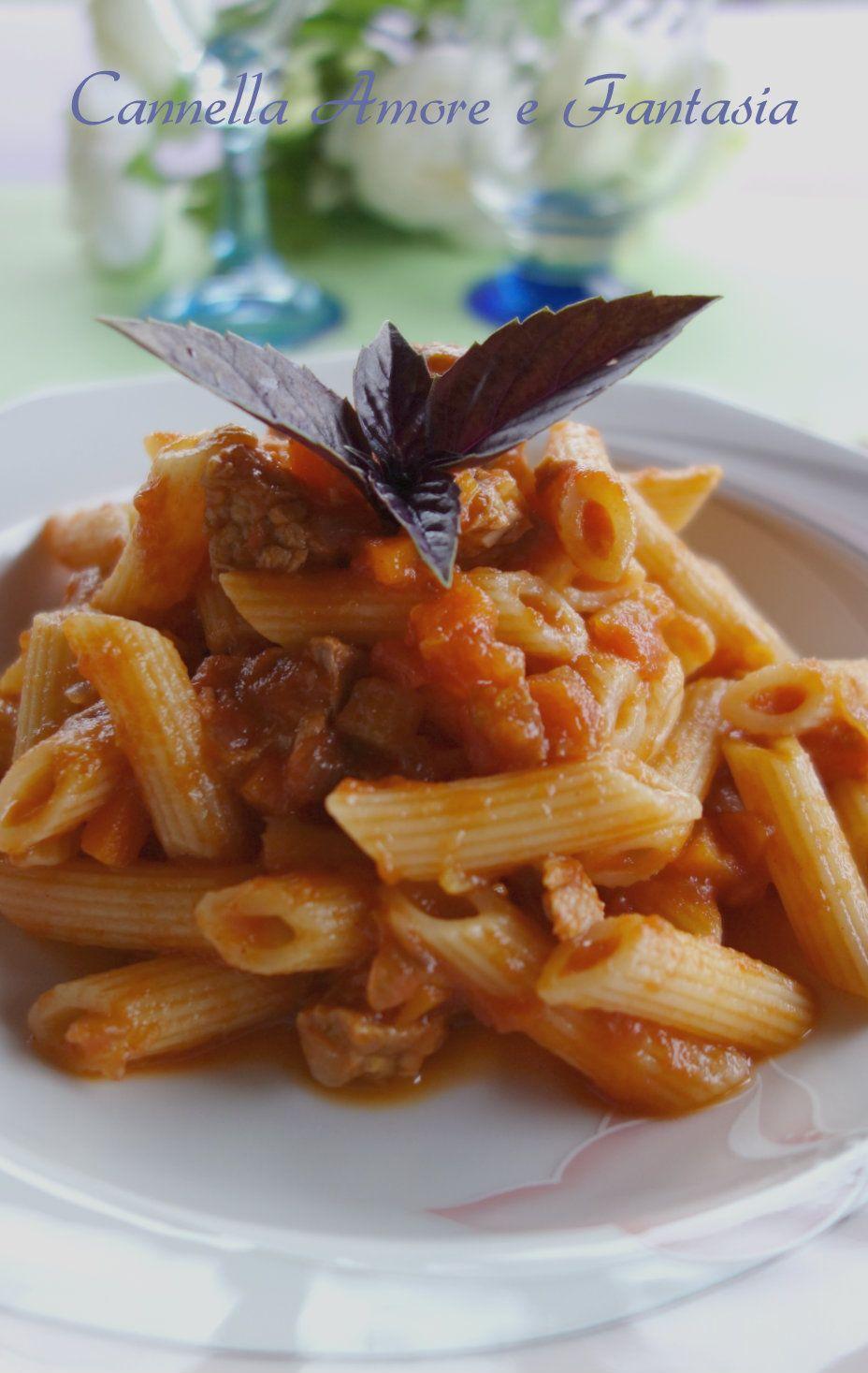 Penne al sugo di carne alla siciliana my junkyard for Cucina italiana ricette carne