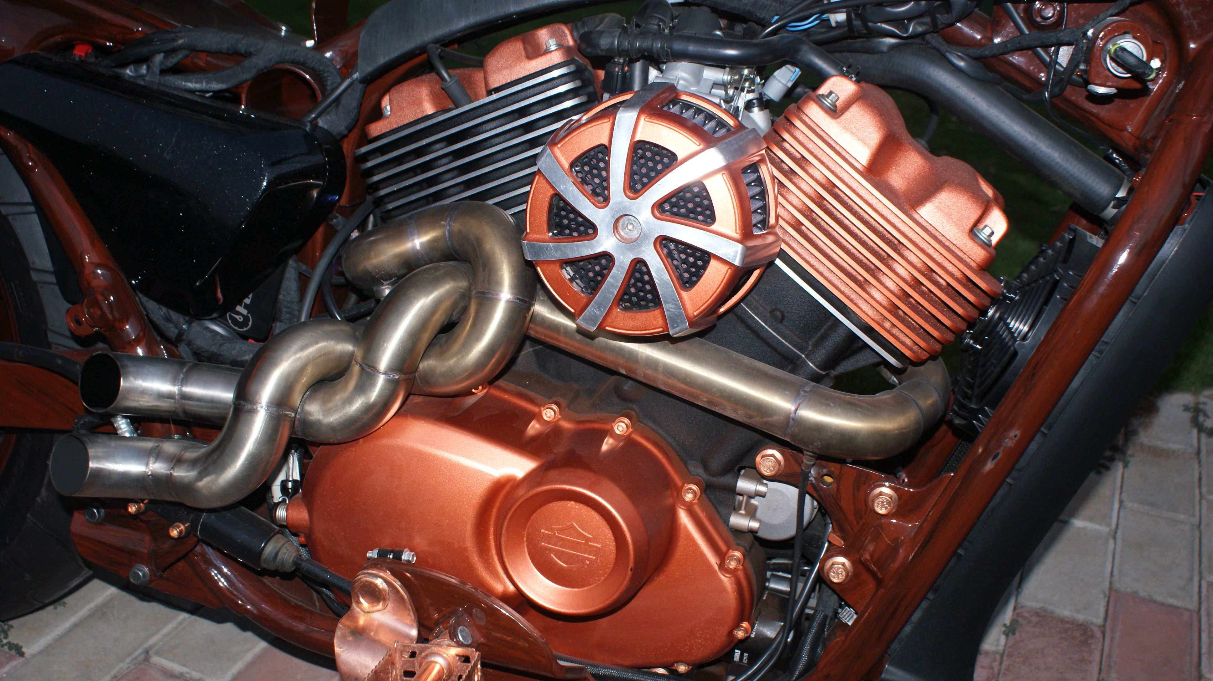 Twisted Exhaust | Custom Street 750 | Motorcycle exhaust, Motorcycle