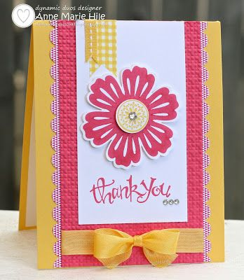 Stampin' Anne: Mixed Bunch Thank You for Dynamic Duos #64