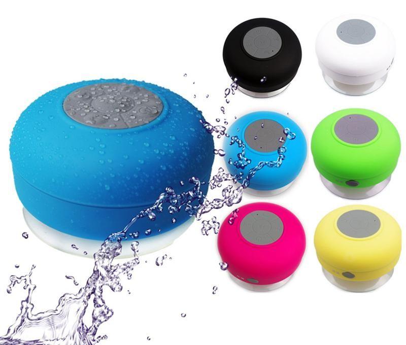 Waterproof Shower Bluetooth Music Mini Speaker Player With Mic /& Wall Sucker HOT