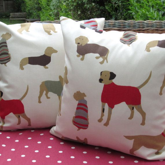 Dog Themed Pillow Covers Cushion Covers 40 Inch Red Dogs Fabric On Interesting Decorative Dog Themed Pillows