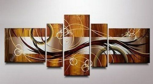 Amazon com 100 hand painted art 5 piece wall art abstract oil painting group painting canvas art set stretched ready to hang paintings