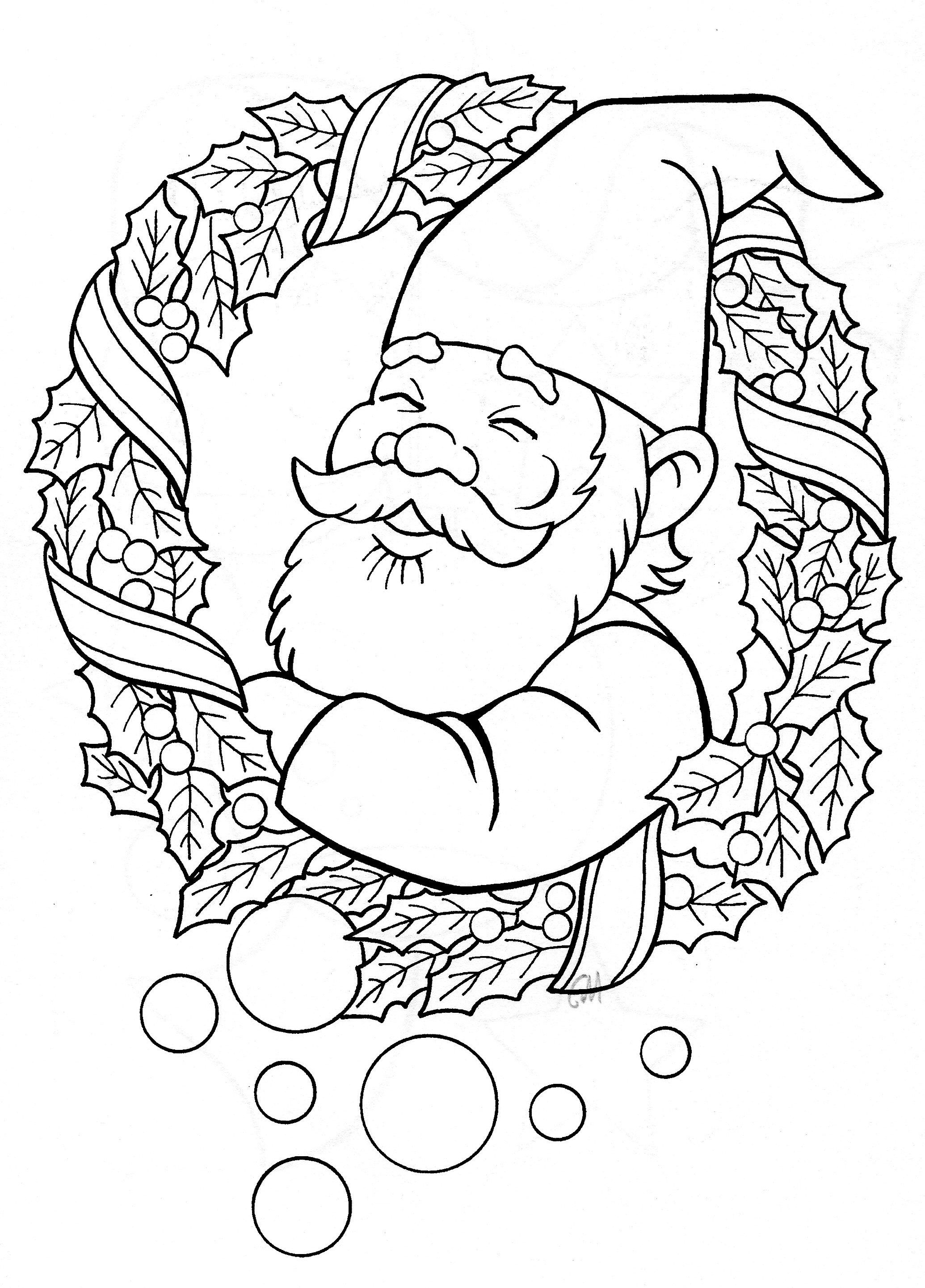 Christmas Gnome Christmas coloring sheets, Mandala