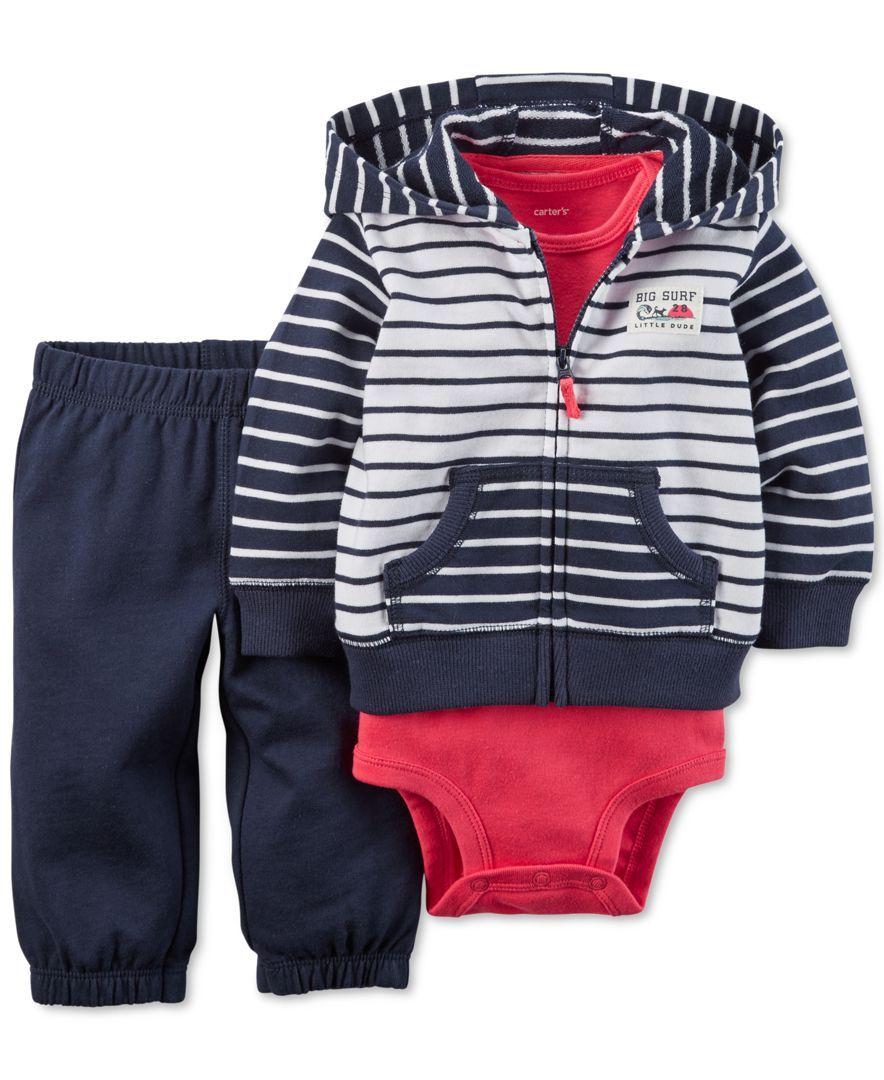 Carters Baby Boys 3-Piece Cardigan Set