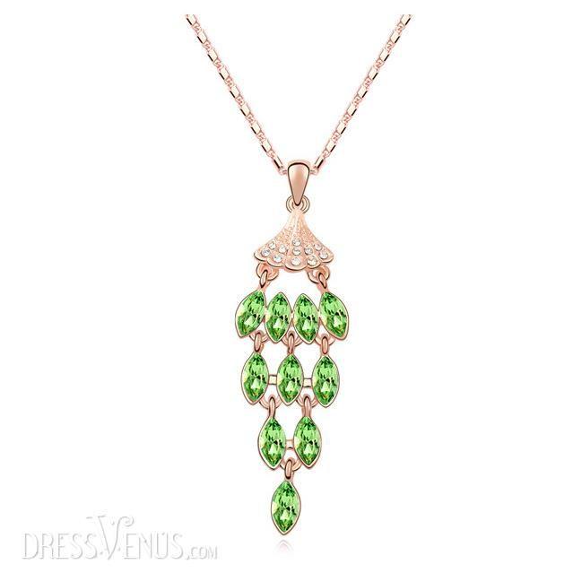 Jewelry, Attractive Shining Colorful Rhinestone Peacock Shaped Sweater Chain, $53.99