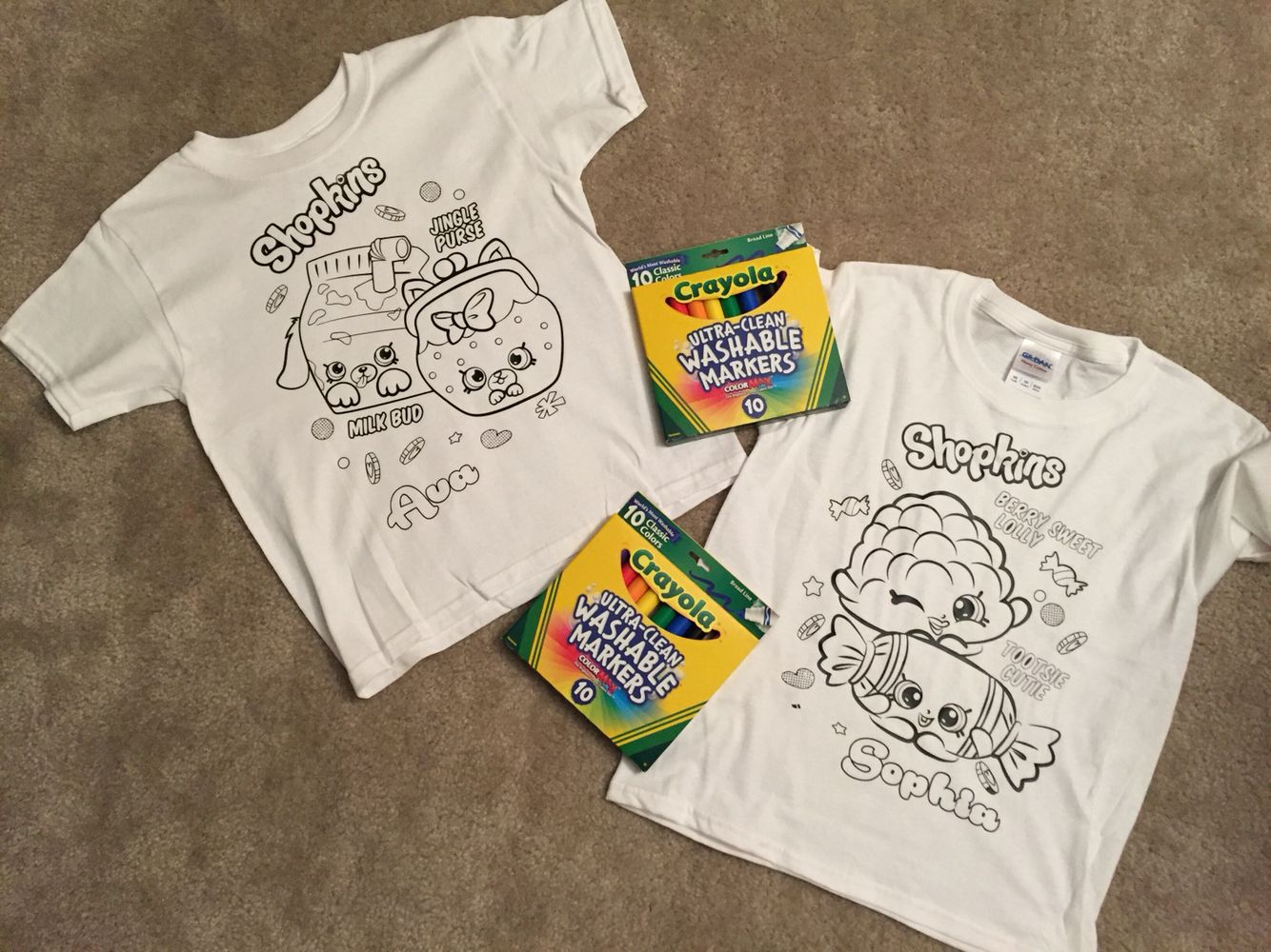 8f687f202 Shopkins coloring shirts I made with heat transfer vinyl cut on my  silhouette cameo. A birthday gift for my nieces. (Only for personal use!)  Crayola ...